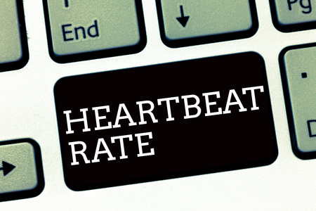 Foto de Handwriting text writing Heartbeat Rate. Concept meaning measured by number of times the heart contracts per minute. - Imagen libre de derechos