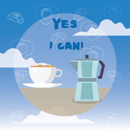 Photo for Word writing text Yes I Can. Business concept for Motivation to do something have the enough strength to keep going - Royalty Free Image