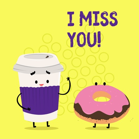 Photo pour Text sign showing I Miss You. Conceptual photo Feeling sad because you are not here anymore loving message - image libre de droit
