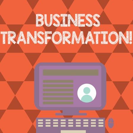 Foto de Text sign showing Business Transformation. Conceptual photo Making changes in conduction of the company Upgrade - Imagen libre de derechos