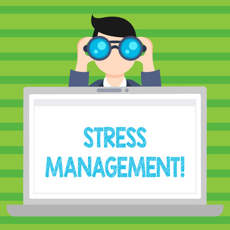 Photo for Conceptual hand writing showing Stress Management. Concept meaning Meditation Therapy Relaxation Positivity Healthcare - Royalty Free Image