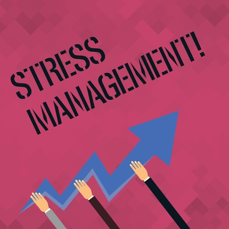 Photo for Word writing text Stress Management. Business photo showcasing Meditation Therapy Relaxation Positivity Healthcare - Royalty Free Image
