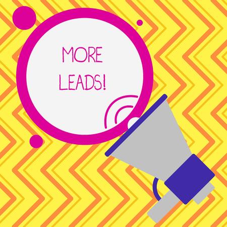 Foto de Writing note showing More Leads. Business concept for initiation consumer interest enquiry into products or services - Imagen libre de derechos