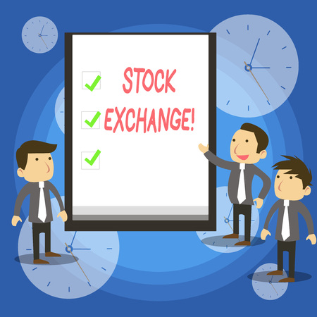 Foto de Text sign showing Stock Exchange. Business photo showcasing the place where showing buy and sell stocks and shares - Imagen libre de derechos