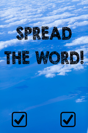 Photo pour Handwriting text writing Spread The Word. Conceptual photo share the information or news using social media - image libre de droit