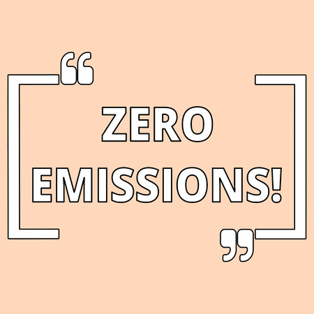 Photo pour Writing note showing Zero Emissions. Business concept for emits no waste products that pollute the environment Shade of Pale Pink for Invitation or Announcement with Feminine Theme - image libre de droit