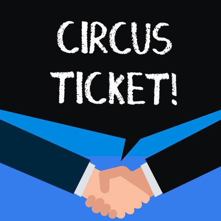 Photo pour Writing note showing Circus Ticket. Business concept for card that gives the holder a certain right to enter the circus - image libre de droit