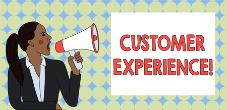 Photo for Writing note showing Customer Experience. Business concept for product of interaction between organization and buyer - Royalty Free Image
