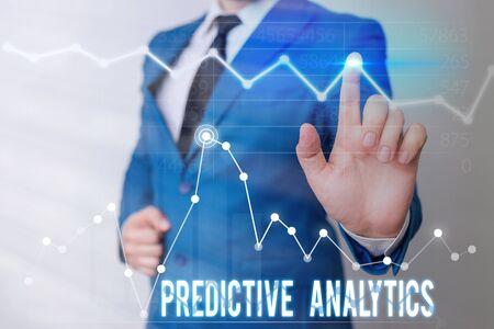 Foto de Word writing text Predictive Analytics. Business photo showcasing Optimize Collection Achieve CRM Identify Customer - Imagen libre de derechos