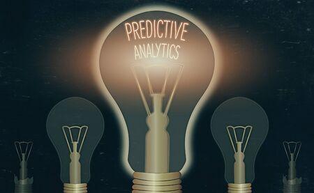 Foto de Writing note showing Predictive Analytics. Business concept for Optimize Collection Achieve CRM Identify Customer - Imagen libre de derechos