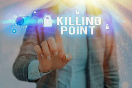 Foto de Word writing text Killing Point. Business photo showcasing Phase End Review Stage Gate Project Evaluation No Go - Imagen libre de derechos