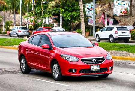 ACAPULCO, MEXICO - MAY 30, 2017: Motor car Renault Fluence in the city street.