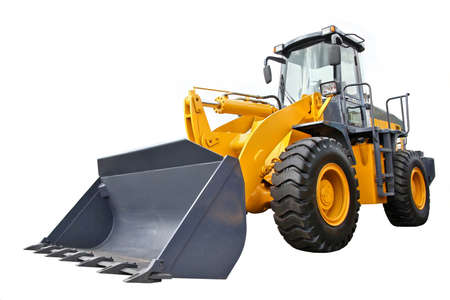 Photo pour Front-end loader isolated on white background - image libre de droit