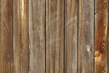 Photo for Vertical Barn Wooden Wall Planking Texture. Reclaimed Old Wood Slats Rustic Horizontal Background. Home Interior Design Element In Modern Vintage Style. Hardwood Dark Brown Timber Solid Structure - Royalty Free Image