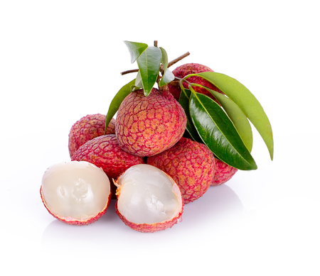 Photo for lychees isolated on the white background - Royalty Free Image