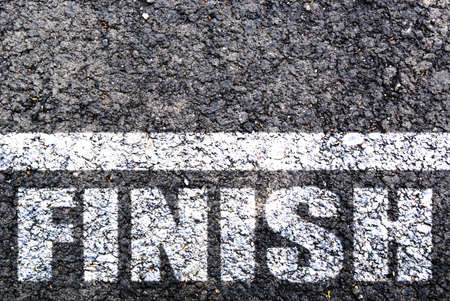 Photo pour Finish line on asphalt. Background - image libre de droit