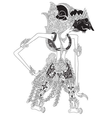 Illustration for Kalmasapada a character of traditional puppet show, wayang kulit from java indonesia. - Royalty Free Image