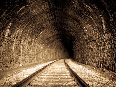 a railway tunnel in Siberia, Russia