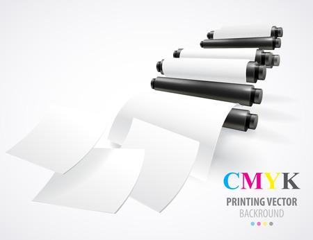 Illustration for Printing machine - Royalty Free Image