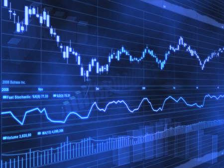 Photo pour Stock Market Chart - image libre de droit