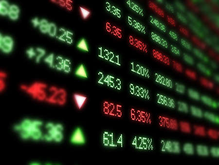 Photo for Colorful Stock Market Ticker - Royalty Free Image