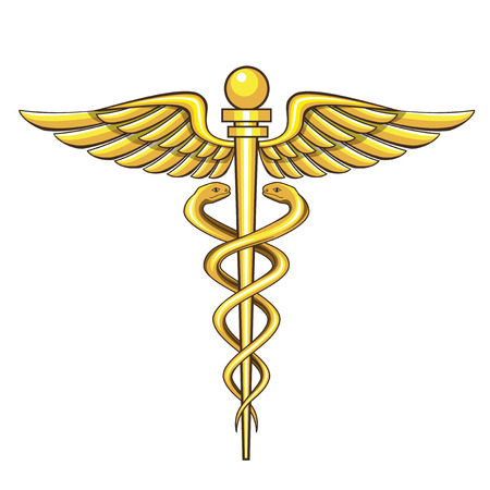 Illustrazione per caduceus medical symbol - Immagini Royalty Free