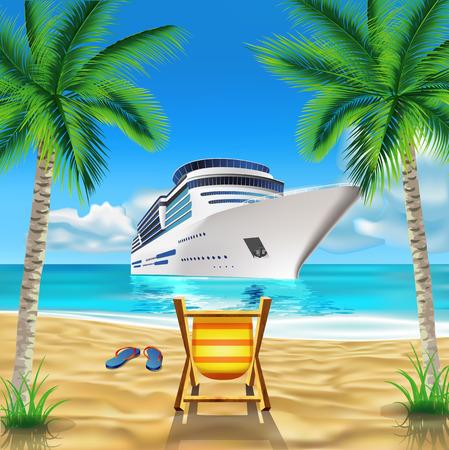 Illustration pour Tropical beach - image libre de droit