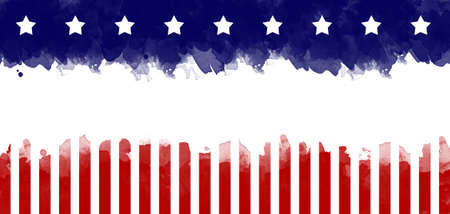 Foto de American flag grunge greeting card background - Imagen libre de derechos