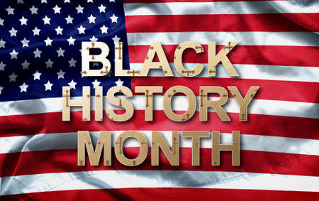 Photo for Black History Month (African-American History Month ) background design for celebration and recognition in the month of February. - Royalty Free Image