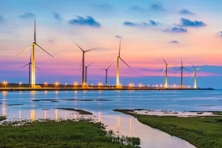 Foto de Evening view of Gaomei Wetlands - Imagen libre de derechos