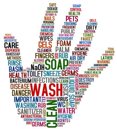 Photo pour hand washing collage - image libre de droit