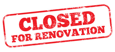 Illustration for Closed For Renovation Stamp - Royalty Free Image