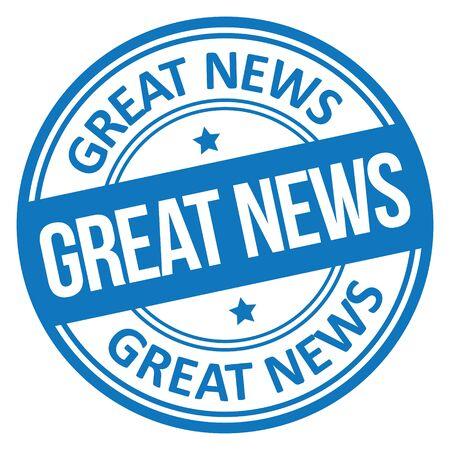 Ilustración de Great News Stamp - Imagen libre de derechos