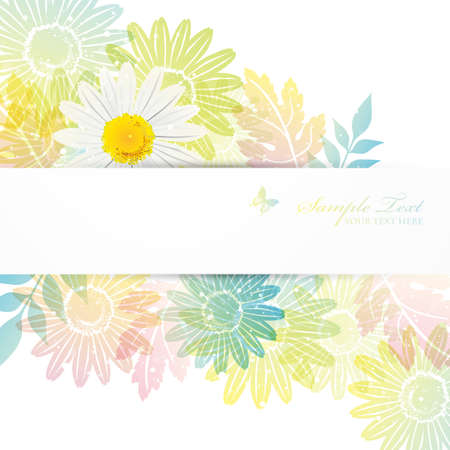 Illustration pour daisies background - image libre de droit