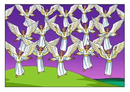 Foto de The Choir of singing Angels appeared to the Shepherds in the Field. - Imagen libre de derechos