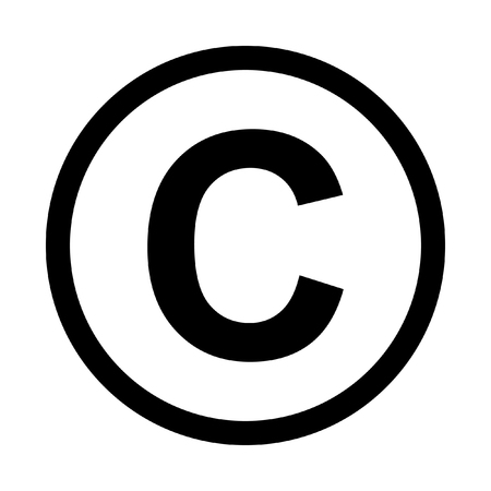 Illustration pour Copyright symbol icon. Isolated on white background - image libre de droit