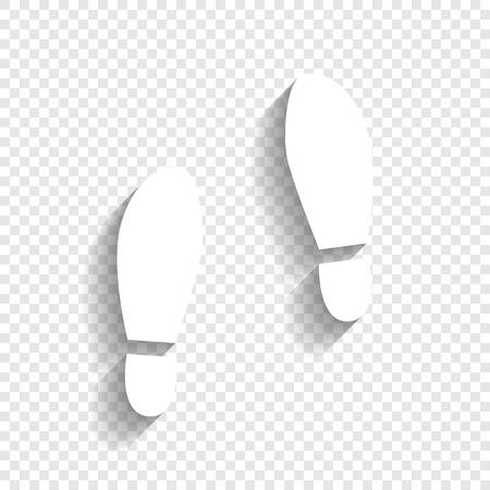 Ilustración de Imprint soles shoes sign. - Imagen libre de derechos