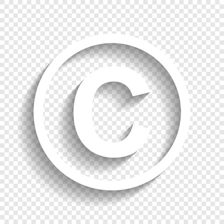 Illustrazione per Copyright sign illustration. - Immagini Royalty Free