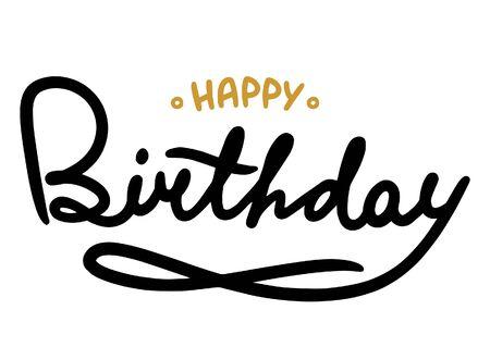 Ilustración de Hhappy Birthday brush - Imagen libre de derechos
