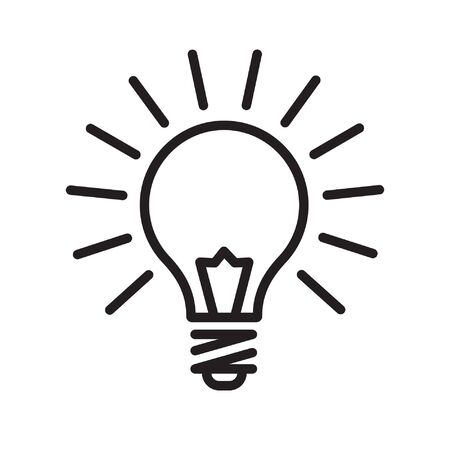 Illustrazione per Light bulb icon - Immagini Royalty Free