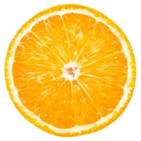 Photo pour Orange slice isolated - image libre de droit