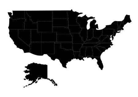 Illustration pour Us map - image libre de droit