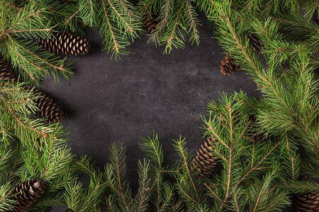 Photo pour Christmas trees background - image libre de droit