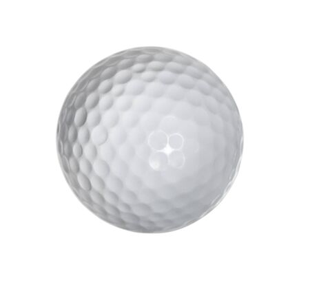 Photo pour Golf ball isolated on white background - image libre de droit