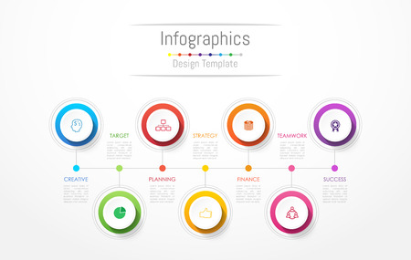 Illustration pour Infographic design elements for your business data with options, parts, steps, timelines or processes. Vector Illustration. - image libre de droit