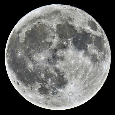 Foto de A detailed image of a full Moon taken with an astronomical telescope - Imagen libre de derechos
