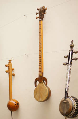 Different kind of antique musical instrument strings