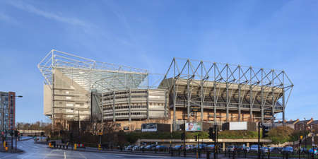Foto de St James' Park home of Newcastle United Football Club in England.  The stadium is all seater and has a capacity of 52,405. - Imagen libre de derechos