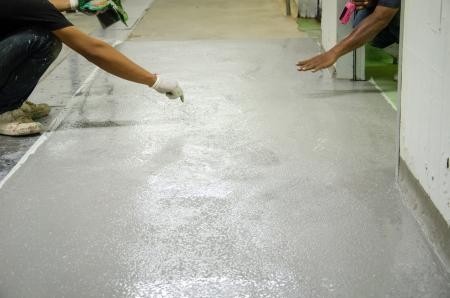 Photo pour mans work epoxy floor - image libre de droit