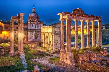 Foto de Ruins of Roman forum on Capitoline hill, Rome, Italy - Imagen libre de derechos